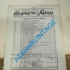 Documentos antiguos: 1930, LINEAS DE AUTOBUSES DE SEVILLA Y SU PROVINCIA, HORARIOS Y PRECIOS, 11 PAGINAS. Lote 265509849
