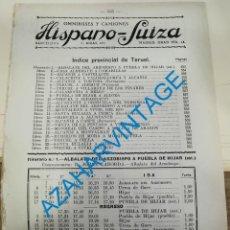 Documentos antiguos: 1930, LINEAS DE AUTOBUSES DE TERUEL Y SU PROVINCIA, HORARIOS Y PRECIOS, 9 PAGINAS. Lote 265510949