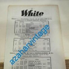 Documentos antiguos: 1930, LINEAS DE AUTOBUSES DE TOLEDO Y SU PROVINCIA, HORARIOS Y PRECIOS, 7 PAGINAS. Lote 265513694