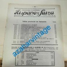 Documentos antiguos: 1930, LINEAS DE AUTOBUSES DE VALLADOLID Y SU PROVINCIA, HORARIOS Y PRECIOS, 8 PAGINAS. Lote 265519414
