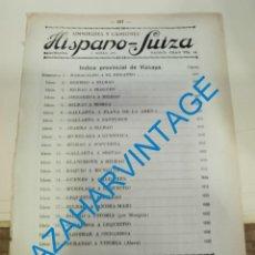 Documentos antiguos: 1930, LINEAS DE AUTOBUSES DE VIZCAYA Y SU PROVINCIA, HORARIOS Y PRECIOS, 10 PAGINAS. Lote 265519809