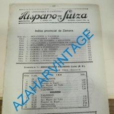Documentos antiguos: 1930, LINEAS DE AUTOBUSES DE ZAMORA Y SU PROVINCIA, HORARIOS Y PRECIOS, 8 PAGINAS. Lote 265520339