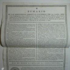 Documentos antiguos: TOLEDO 1794 INDULGENCIAS CONGREGACIÓN SAN JOAQUÍN IGLESIA DE SAN JUAN BAUTISTA. Lote 265725709