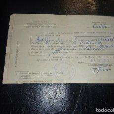 Documentos antiguos: PARTE DE BAJA DE LA MUTUALIDAD AGRARIA DE 1972 DE CASTELLON. Lote 265856909