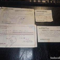 Documentos antiguos: 4 RECIBOS DE RIEGOS Y DIVIDENDOS 1966-66-70-79. Lote 265857649