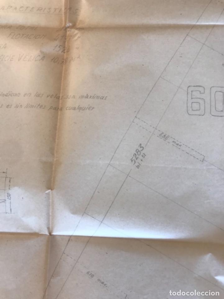 "Documentos antiguos: IMPORTANTES 5 PLANOS ORGINALES DEL BALANDRO "" SNIPE"" VELERO 1940'S. VER FOTOS ANEXAS. - Foto 4 - 266116108"
