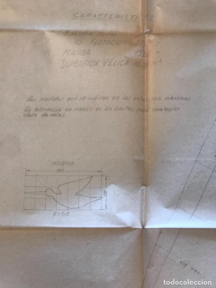 "Documentos antiguos: IMPORTANTES 5 PLANOS ORGINALES DEL BALANDRO "" SNIPE"" VELERO 1940'S. VER FOTOS ANEXAS. - Foto 5 - 266116108"