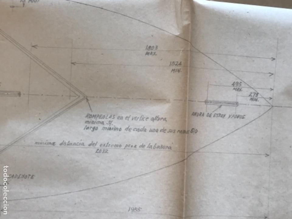 "Documentos antiguos: IMPORTANTES 5 PLANOS ORGINALES DEL BALANDRO "" SNIPE"" VELERO 1940'S. VER FOTOS ANEXAS. - Foto 11 - 266116108"