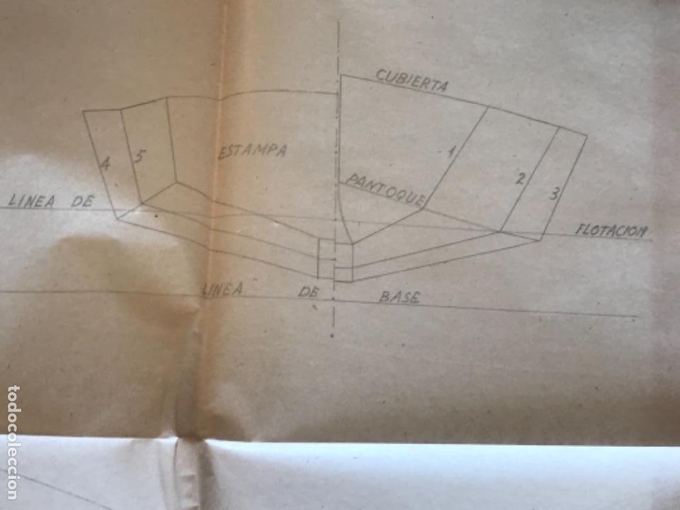 "Documentos antiguos: IMPORTANTES 5 PLANOS ORGINALES DEL BALANDRO "" SNIPE"" VELERO 1940'S. VER FOTOS ANEXAS. - Foto 12 - 266116108"
