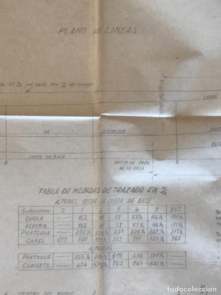 "Documentos antiguos: IMPORTANTES 5 PLANOS ORGINALES DEL BALANDRO "" SNIPE"" VELERO 1940'S. VER FOTOS ANEXAS. - Foto 14 - 266116108"
