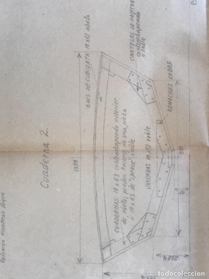 "Documentos antiguos: IMPORTANTES 5 PLANOS ORGINALES DEL BALANDRO "" SNIPE"" VELERO 1940'S. VER FOTOS ANEXAS. - Foto 19 - 266116108"