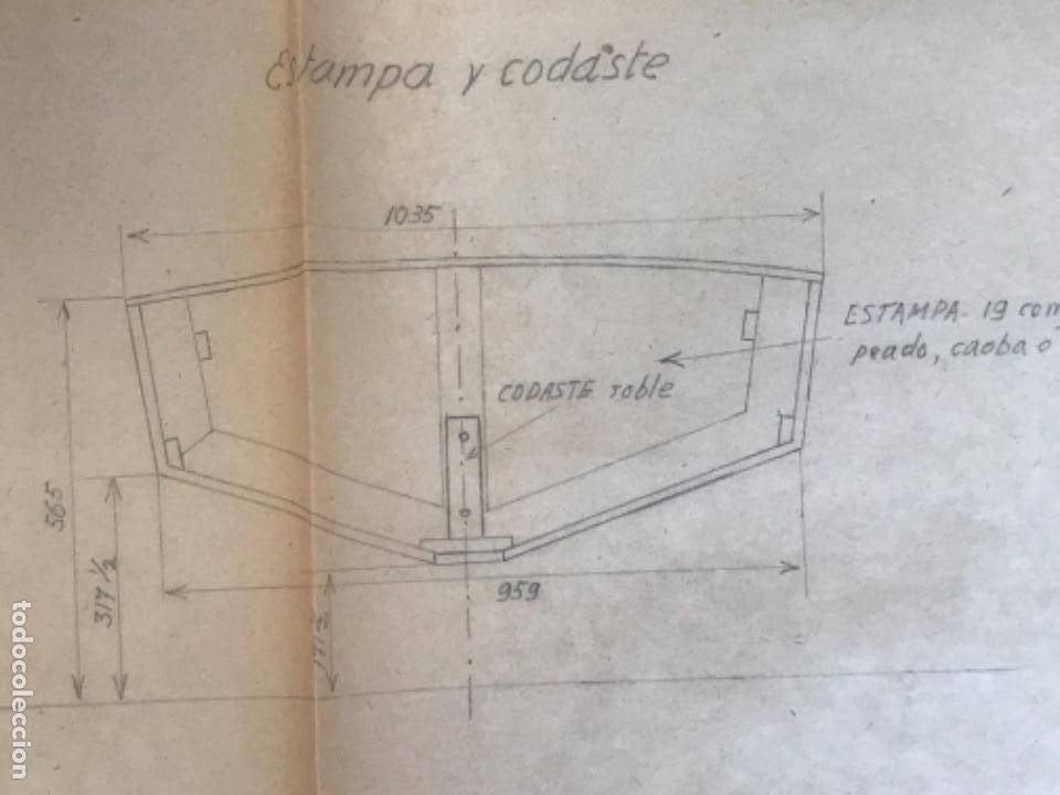 "Documentos antiguos: IMPORTANTES 5 PLANOS ORGINALES DEL BALANDRO "" SNIPE"" VELERO 1940'S. VER FOTOS ANEXAS. - Foto 21 - 266116108"