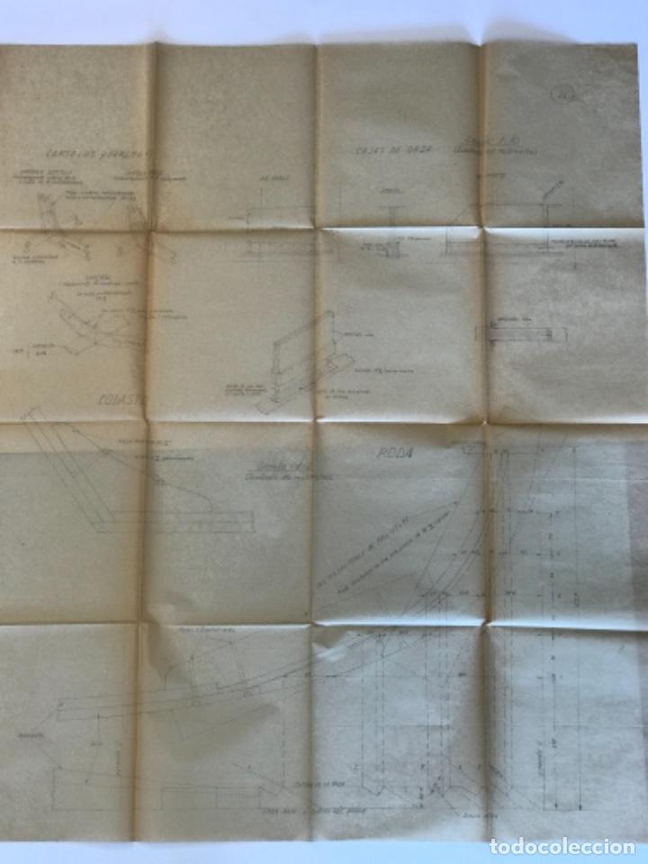 "Documentos antiguos: IMPORTANTES 5 PLANOS ORGINALES DEL BALANDRO "" SNIPE"" VELERO 1940'S. VER FOTOS ANEXAS. - Foto 23 - 266116108"