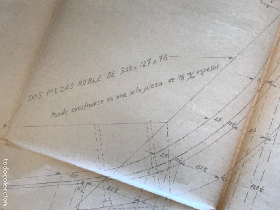 "Documentos antiguos: IMPORTANTES 5 PLANOS ORGINALES DEL BALANDRO "" SNIPE"" VELERO 1940'S. VER FOTOS ANEXAS. - Foto 27 - 266116108"