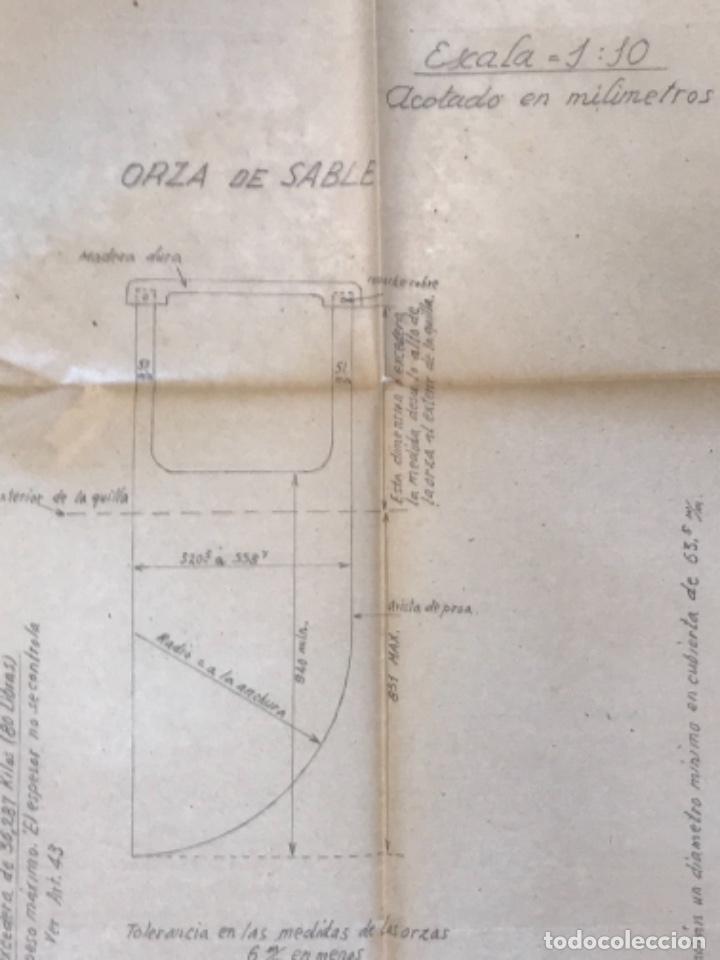 "Documentos antiguos: IMPORTANTES 5 PLANOS ORGINALES DEL BALANDRO "" SNIPE"" VELERO 1940'S. VER FOTOS ANEXAS. - Foto 29 - 266116108"
