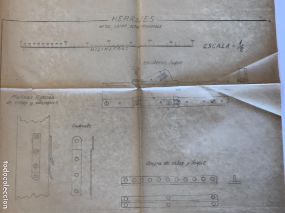 "Documentos antiguos: IMPORTANTES 5 PLANOS ORGINALES DEL BALANDRO "" SNIPE"" VELERO 1940'S. VER FOTOS ANEXAS. - Foto 30 - 266116108"