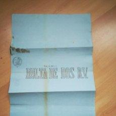 Documentos antiguos: PAPEL SELLADO. TIMBROLOGIA. MULTA DE DOS REALES DE VELLÓN. ISABEL II.. Lote 266218558
