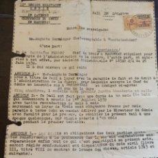 Documentos antiguos: DOCUMENTO (MILITAR?) AÑO 1939. Lote 266325748