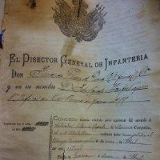 Documentos antiguos: DOCUMENTACIÓN MILITAR. LICENCIA ABSOLUTA. AÑO 1887. VER FOTOS. MUY CURIOSO. VINTAGE.. Lote 266904209