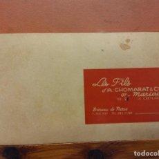 Documentos antiguos: LES FILS D'AUGUSTE CHOMARAT & CIE. LE CHEYLARD. ROVINAP. VER FOTOS. Lote 266904719