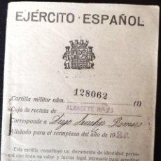 Documentos antiguos: CARTILLA MILITAR DE LA GUERRA CIVIL,1936.. Lote 267142014