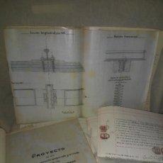 Documentos antiguos: PATENTE ORIGINAL TRAVIESA SISTEMA SIMON PARA FERROCARRILES Y TRANVIAS - AÑO 1915 - R.SIMON SANTALO.. Lote 267641949