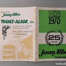 Documentos antiguos: DÍPTICO PUBLICIDAD ORIGINAL 1975 TRANSPORTES JUAN ALBA PALMA DE MALLORCA. Lote 267870414