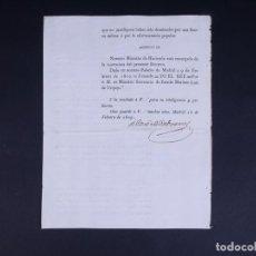 Documents Anciens: REAL DECRETO DE JOSEP NAPOLEON. FIRMADO CONDE DE CABARRUS. RESARCIMIENTO DE CAUDALES. MADRID 1809. Lote 267912594