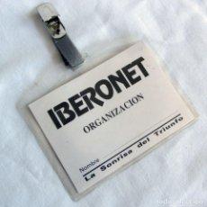 Documentos antiguos: PASE IBERONET, LA SONSIRA DEL TRIUNFO. Lote 268128374