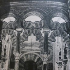 Documentos antiguos: CORDOBA MEZQUITA HUECOGRABADO 1958. Lote 268868014