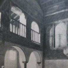 Documentos antiguos: CORDOBA SINAGOGA DE LA CALLE MAIMOIDES HUECOGRABADO 1958. Lote 268868279