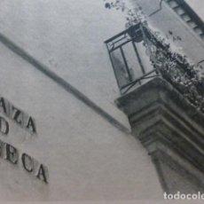 Documentos antiguos: CORDOBA PLAZA DE LA FUENSECA HUECOGRABADO 1958. Lote 268868579