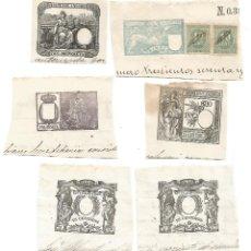 Documentos antiguos: LOTE OCHO ANTIGUO TIMBRE DE ESCRITURA ANTIGUOS TIMBRES ESCRITURAS SIGLO XIX. Lote 269101898