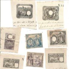 Documentos antiguos: LOTE DIEZ ANTIGUO TIMBRE DE ESCRITURA 10 ANTIGUOS TIMBRES ESCRITURAS SIGLO XIX. Lote 269102568