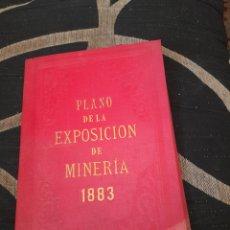 Documentos antiguos: PLANO DE LA EXPISICION DE MINERIA 1883. Lote 269105093