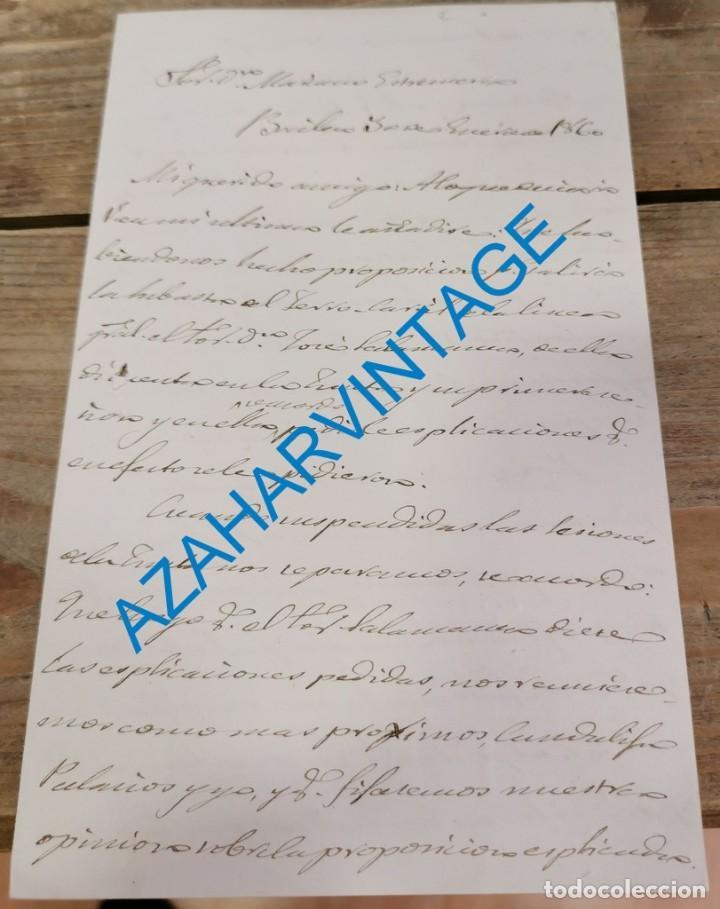 BAILEN, 1860, CARTA SOBRE NUEVA LINEA DE FERROCARRIL (Coleccionismo - Documentos - Otros documentos)