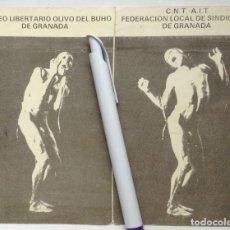 Documentos antiguos: ATENEO LIBERTARIO OLIVO DEL BÚHO GRANADA CNT JORNADAS 1987 FOLLETO SOPEÑA AGUSTÍN GARCÍA CALVO. Lote 269294008