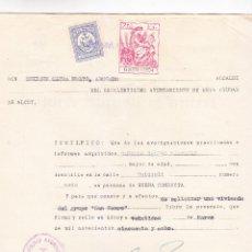 Documentos antiguos: EXPEDIENTE COMPLETO AL ALCALDE DE ALCOY ENRIQUE OLTRA MOLTÓ (1958) CON VIÑETAS (VER DESCRIPCIÓN). Lote 269368683