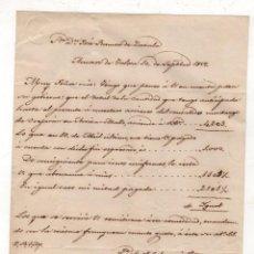 Documentos antigos: CARTA VECINO DE TOLOSA SOBRE COMPRA DE ARRIEROS. AÑO 1857. Lote 269635433