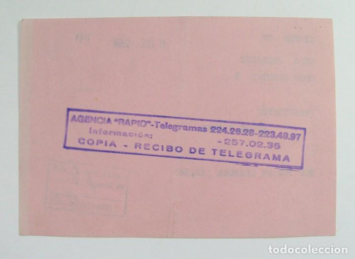 Documentos antiguos: RECIBO DE TELEGRAMA. MIERES. ASTURIAS. 1964 - Foto 2 - 269731583