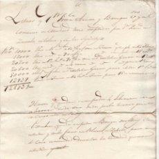 Documentos antiguos: DOCUMENTO DE LETRAS ACEPTADAS EN COMERCIO DE MADRID. FRANCISCO ARNAIZ. C. 1820. Lote 269842298