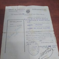 Documentos antiguos: EJÉRCITO ESPAÑOL EN MARRUECOS , PASAPORTE CEUTA A SAGUNTO 1947. Lote 270345823