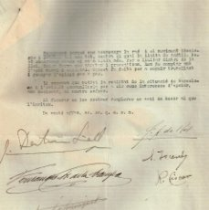 Documentos antiguos: 1934 DERECHA DE CATALUÑA DOCUMENTO DE ABRIL DE 1934 FIRMADO DE PUÑO Y LETRA POR SUS DIRIGENTES. Lote 271703903