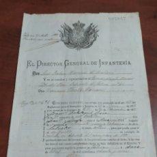 Documentos antiguos: EL DIRECTOR GENERAL DE INFANTERÍA JÁTIVA 46 ,BOCAITENTE 1889.. Lote 271982458