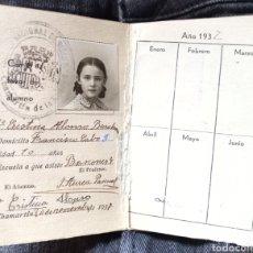 Documentos antiguos: CARTILLA ESCOLAR CON SELLO DE LA REPUBLICA DEL CURSO 1935-36, CHAMARTÍN DE LA ROSA(MADRID). Lote 271997213