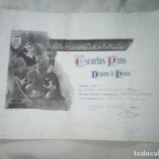 Documentos antiguos: ESCUELAS PIAS DE ZARAGOZA; MATRICULA DE HONOR 1933. Lote 273080673