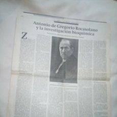 Documentos antiguos: ANTONIO DE GREGORIO ROCSSOLANO (TIO REINA LETIZIA). Lote 273081693