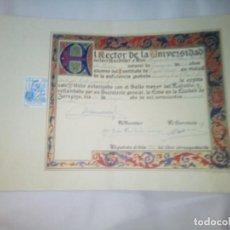 Documentos antiguos: DIPLOMA UNIVERSIDAD DE ZARAGOZA. Lote 273082093