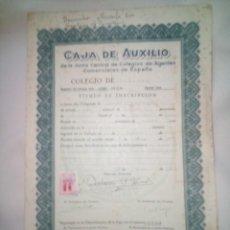 Documentos antiguos: CAJA DE AUXILIO. Lote 273084633