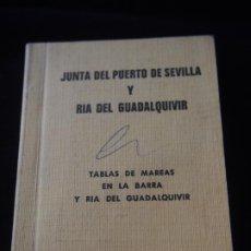 Documentos antiguos: JUNTA DEL PUERTO DE SEVILLA Y RIO GUADALQUIVIR.TABLAS DE MAREAS EN LA BARRA Y RIA. 1980. Lote 274673408